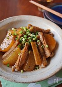 『お酢でさっぱり&柔らか!鶏手羽と根菜の煮込み』