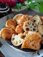ご飯がススム*鶏むね肉とれんこんのピリッと生姜甘辛炒め
