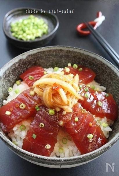 中華風マグロのづけ丼