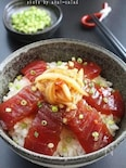 中華風鮪の漬け丼