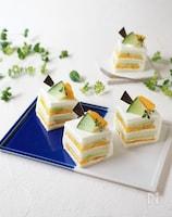 メロンとマンゴーのサンドイッチケーキ