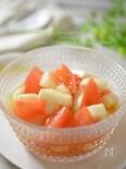 コレステロールを下げる☆トマトと長芋のオリーブオイル和え