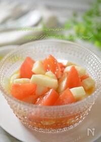 『コレステロールを下げる☆トマトと長芋のオリーブオイル和え』