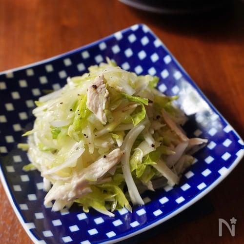 鶏肉と香味野菜のネギ塩サラダ