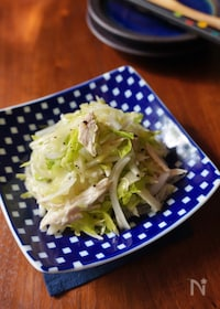 『鶏肉と香味野菜のネギ塩サラダ』
