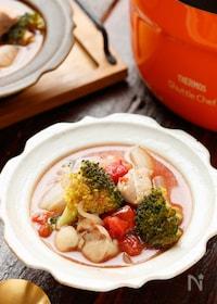『鶏肉とたっぷり野菜の洋風のトマト煮』