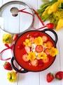 苺スープ🍓で食べる!ヨーグルトゼリー