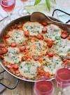 マルゲリータ風トマトとモッツァレラのパエリア