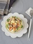 こんがりベーコンのやみつきポテトサラダ【野菜丸ごとレンチン】