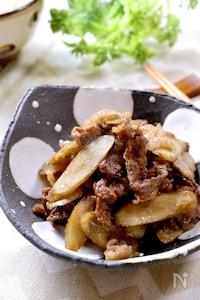 ご飯が進む甘辛味♡簡単3ステップ♪『牛肉とごぼうのしぐれ煮』