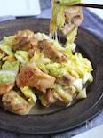 チーズでコクうま♪鶏ももと春キャベツのてりチー炒め