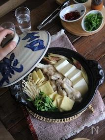 鶏手羽と豆腐の水炊き鍋