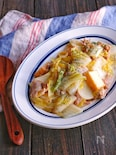 豚こまと絹揚げと白菜の旨塩レモンマヨ炒め