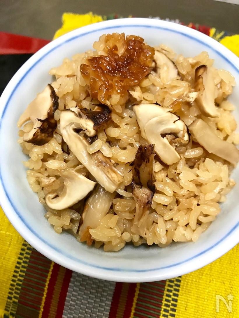 茶碗に入った松茸ご飯