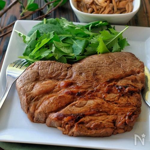 輸入牛厚切りステーキ肉で!*絶品柔らかマリネステーキ*