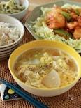 白菜と大根の中華スープ