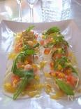 《オレンジ》たち香る海老とカブのサラダ仕立て