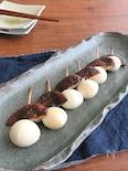 ごま油で食欲UP☆しいたけとうずら卵の串焼き