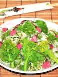 春を食べよう♪菜の花と桜のご飯