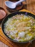 *白菜と鶏ひき肉の白だしとろーり煮*