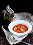 超こんがり♡焼きネギと鶏もも肉のトマトスープ!