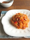 野菜ジュースで簡単☆旨味たっぷり炊き込みピラフ