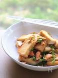 鮭の塩加減がポイント!厚揚げと焼き鮭の炒め物