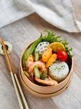 【15分弁当】ガーリックシュリンプのハワイ弁当