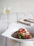 パルミジャーノ薫る 桃とトマトの冷製パスタ