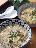 うどんスープで簡単♡きのこのとろみかきたまスープ