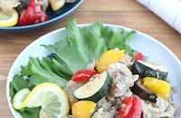 食欲そそる☆夏野菜と豚肉のねぎ塩レモンソテー