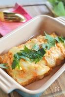 厚揚げのキム納豆チーズ焼き