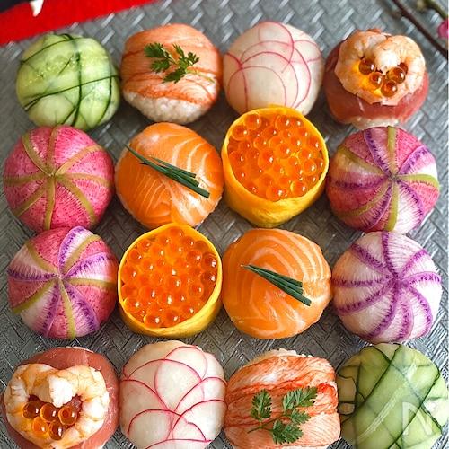 カラフル手まり寿司の作り方