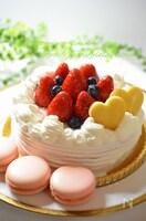 ふんわり♡米粉のスポンジケーキ(別立て)