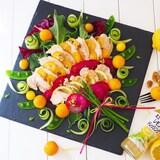 金柑と、レモン🍋鶏ハムのパワーサラダ