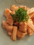 鶏と長芋のうめわさび炒め