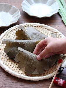 【簡単おやつ】レンジで簡単!豆腐入りでもっちり柔らか!柏餅