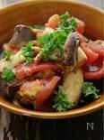 包丁いらずの1分レシピ☆ちぎりトマトとエリンギのみそ炒め