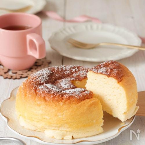 炊飯器で簡単♪スライスチーズでできる!米粉のチーズケーキ