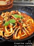 イカのパプリカのトマト煮込み