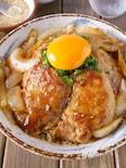 【卵黄でまろやか】玉ねぎたっぷりご飯が進む甘辛オイスター豚丼