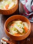 キャベツとお揚げの味噌スープ【#簡単 #時短 #スープ】