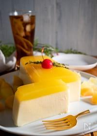 『超簡単!混ぜるだけで2層に♡牛乳パックで作るオレンジゼリー』