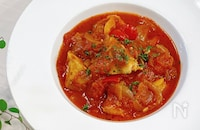 【10分で完成】フライパンひとつde簡単♡ぶりのトマト煮