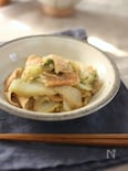 白菜と板麩(水戻しなし・入れるだけ)のごまみそ煮