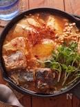 サバ缶で簡単☆豆苗☆チゲ鍋☆一人鍋♬DHA豊富!!