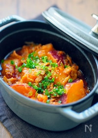 『【無水調理】サツマイモのコチュジャン煮』