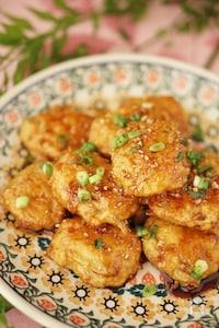季節を楽しむ旬ごはん✿新ごぼうと鶏ひき肉の甘辛つくね