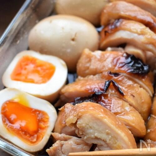 材料2つ♡漬けて焼くだけ♡トースターde鶏チャーシュー♡