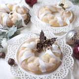 発酵なし!ふわふわリースパン【クリスマス・時短パン】